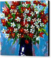 Flower Arrangement Bouquet Canvas Print by Patricia Awapara