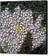 Flower Bottle Cap Mosaic Canvas Print by Paul Van Scott