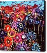 Flower Garden Canvas Print by Karen Elzinga
