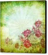 Flower Pattern On Paper Canvas Print by Setsiri Silapasuwanchai