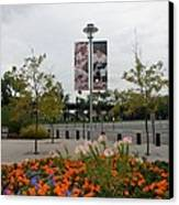 Flowers At Citi Field Canvas Print by Rob Hans