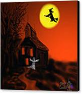 Fly By Night Canvas Print by Kevin Caudill