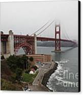 Fog At The San Francisco Golden Gate Bridge - 5d18868 Canvas Print by Wingsdomain Art and Photography