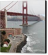 Fog At The San Francisco Golden Gate Bridge - 5d18872 Canvas Print by Wingsdomain Art and Photography