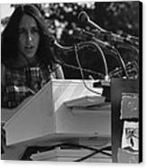 Folk Singer Joan Baez Singing Canvas Print by Everett