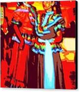 Folklorico Dancers Canvas Print by Randall Weidner