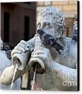 Fontana Del Moro In Piazza Navona. Rome Canvas Print by Bernard Jaubert