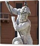 Fontana Del Nettuno. Neptune Fountain. Piazza Navona. Rome Canvas Print