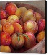 Food - Peaches - Farm Fresh Peaches  Canvas Print by Mike Savad
