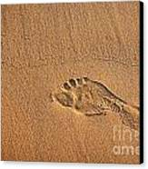 Foot Print Canvas Print by Carlos Caetano