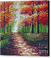 Forest Path - Detail Canvas Print by Kostas Dendrinos