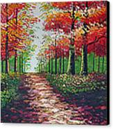 Forest Path Canvas Print by Kostas Dendrinos