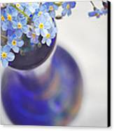 Forget Me Nots In Deep Blue Vase Canvas Print