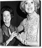 Former First Lady Visits Carol Channing Canvas Print by Everett