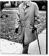 Former President Harry Truman Walks Canvas Print by Everett