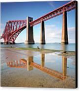 Forth Rail Bridge Canvas Print by Stu Meech