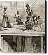Four 1869 Illustrations Show Processing Canvas Print