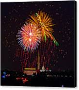 Fourth Of July Canvas Print by David Hahn