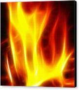Fractal Fire Canvas Print by Steve Ohlsen