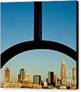 Framed Charlotte Skyline Canvas Print