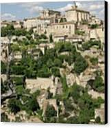 France, Provence, Village Of Gordes Canvas Print by Jimmy Legrand