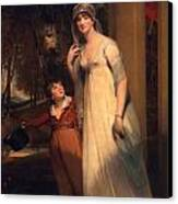 Frances Borlase Later Frances Grenfell And Pascoe George Norman Grenfel Canvas Print by Sir Martin Archer Shee