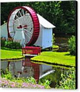 Franconia Notch Waterwheel Canvas Print