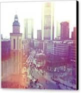 Frankfurt Downtown Canvas Print by Ixefra