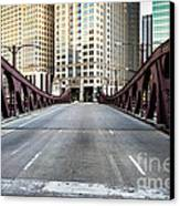 Franklin Orleans Street Bridge Chicago Loop Canvas Print by Paul Velgos