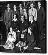 Franklin Roosevelt Family On Christmas Canvas Print by Everett