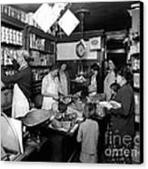Fred Grovers Grocery Store Canvas Print by Photo Researchers