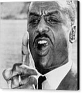 Fred Shuttlesworth, Points A Finger Canvas Print by Everett