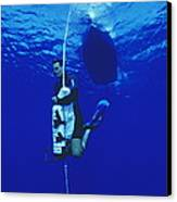 Free-diving Training Canvas Print by Alexis Rosenfeld