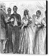 Freedmen: Wedding, 1866 Canvas Print by Granger
