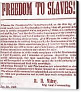 Freedom To Slaves Canvas Print by Photo Researchers, Inc.