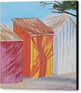 French Beach Huts Canvas Print by Siobhan Lawson