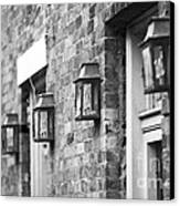 French Quarter Lamps Canvas Print by Leslie Leda