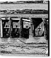 Freret Street Mailboxes - Black And White -nola Canvas Print