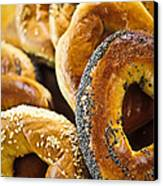 Fresh Bagels Canvas Print by Elena Elisseeva