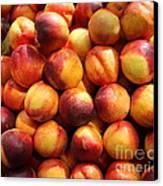 Fresh Nectarines - 5d17815 Canvas Print