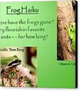 Frog Haiku Canvas Print by Laurel Talabere