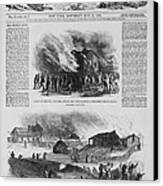 Front Page Of A Newspaper Reports Canvas Print by Everett