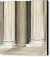 Front Steps And Columns Of The Supreme Court Canvas Print