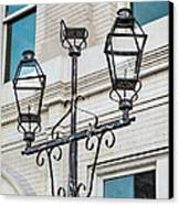 Front Street Lamp Canvas Print