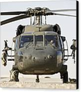 Front View Of A Uh-60l Black Hawk Canvas Print by Terry Moore
