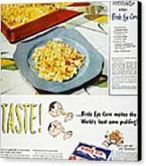 Frozen Food Ad, 1947 Canvas Print