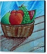 Fruit Basket Canvas Print by Tanmay Singh