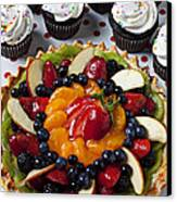 Fruit Tart Pie And Cupcakes  Canvas Print by Garry Gay
