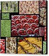 Fruits Mosaic Canvas Print by Francois Cartier