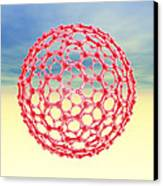 Fullerene Molecule, Computer Artwork Canvas Print by Laguna Design